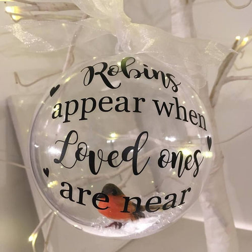 Large Remembrance Robin Bauble