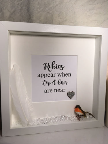 Robin Remembrance Quote Frame