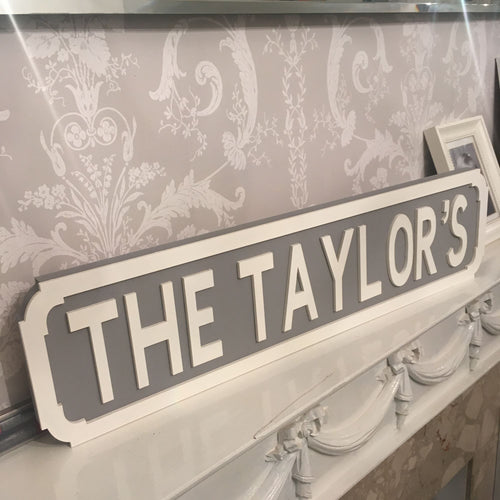 Freestanding Street Signs. Great for Wedding Tables!
