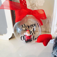 Personalised Santa Bauble Tree Decoration Keepsake