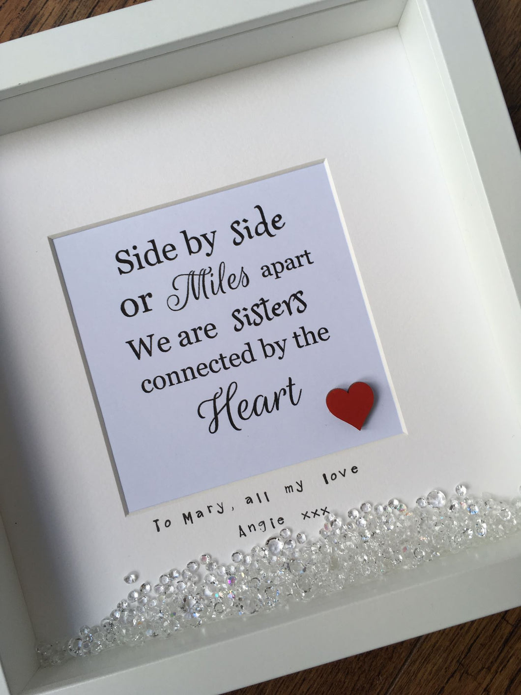 Personalised Quote Frame for a Special Sister