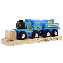 Personalised Wooden Train and Track Set