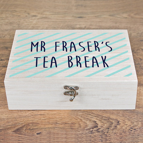 Personalised Teacher's Tea Break Box with a Selection of Teas