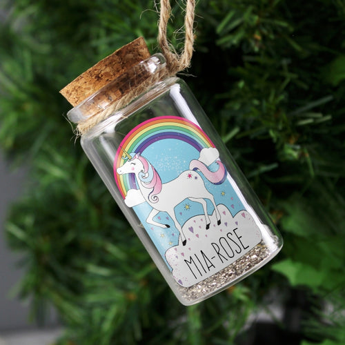 Personalised Unicorn Message in a Bottle