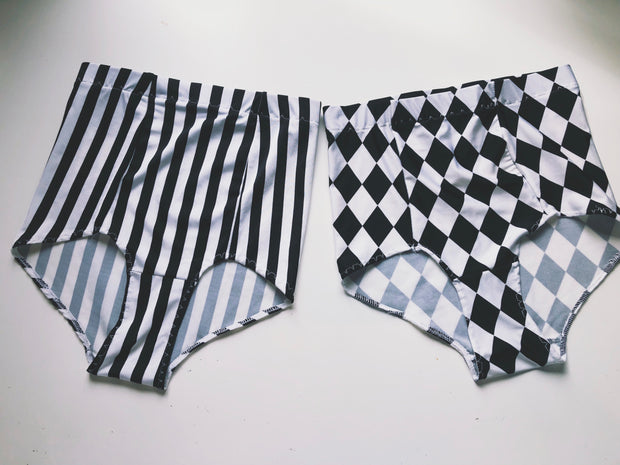 THE B & W HIGH WAISTED BLOOMERS