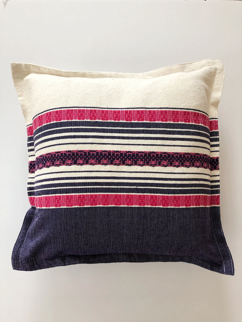 The cushion cover pink line