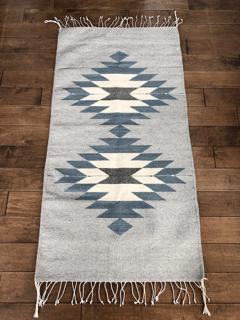 Mexican carpet in lambswool Diamond