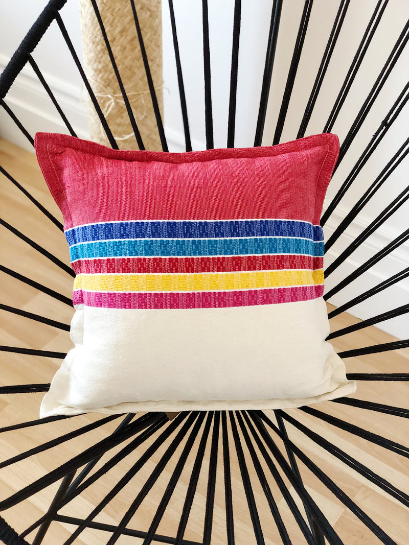 The rainbow cushion cover