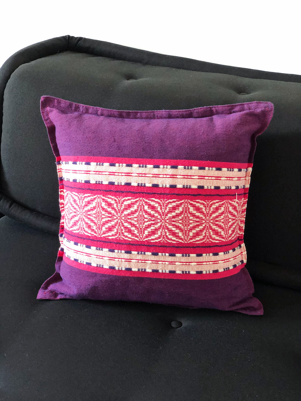The pink flower cushion cover