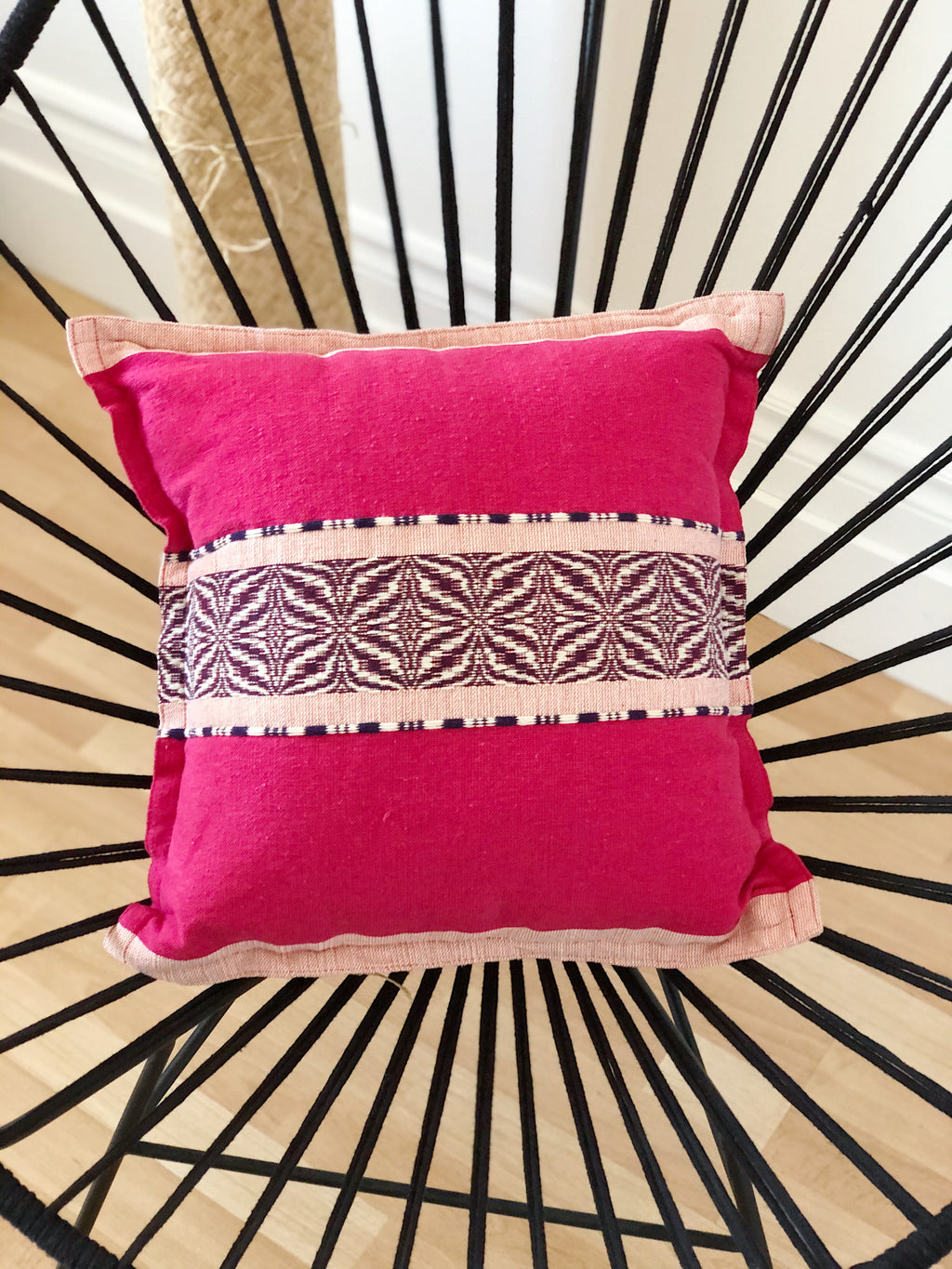 The cushion cover the pink