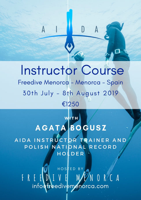 AIDA Instructor Course with Agata Bogusz - Freedive Menorca