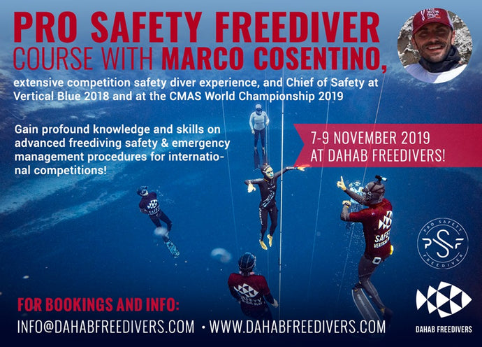 Marco Cosentino Professional Safety Freediver Workshop