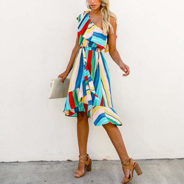 Summer Multicolor Cocktail Dress