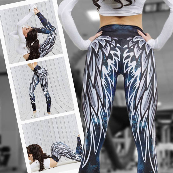 ANGEL WINGS PRINTING LEGGINGS