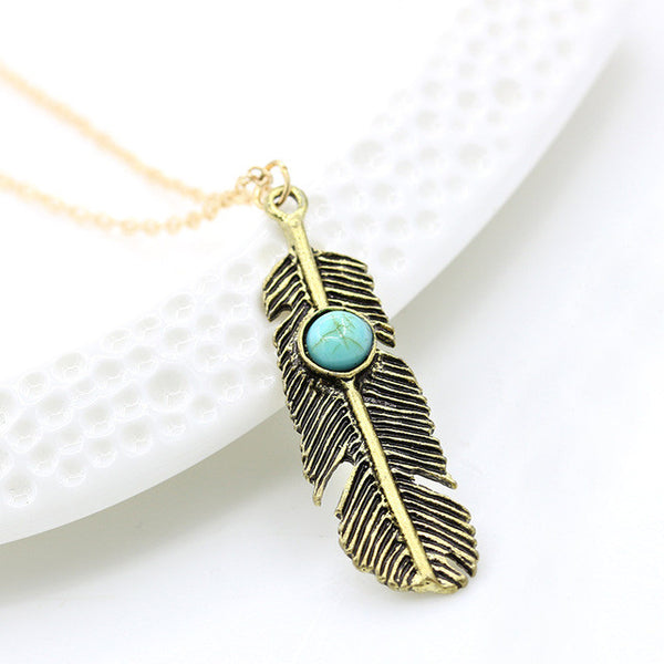 Feather Turquoise Marble