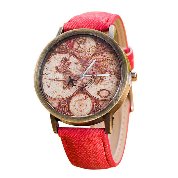 Vintage Travel Map Watch