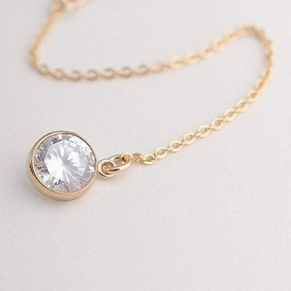Gold Crystal Pendant