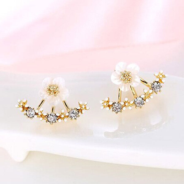Flower Double Sided Earrings
