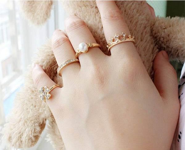Queen Jewels Rings - 5 Pieces