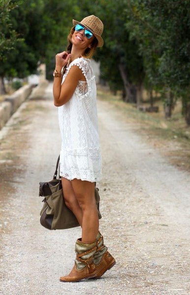 Summer White Mini Lace Dress
