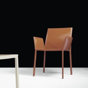Sanctuary Dining Chair with Arm in Whiskey