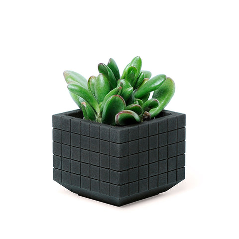 Small Grid Concrete Planter