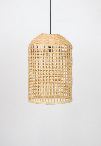 Split Wood Cylinder Pendant Lamp