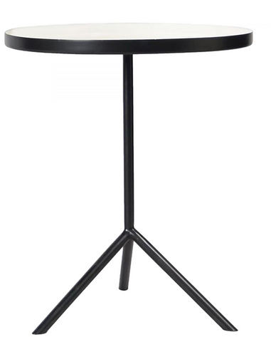 Enamel Accent Table in White
