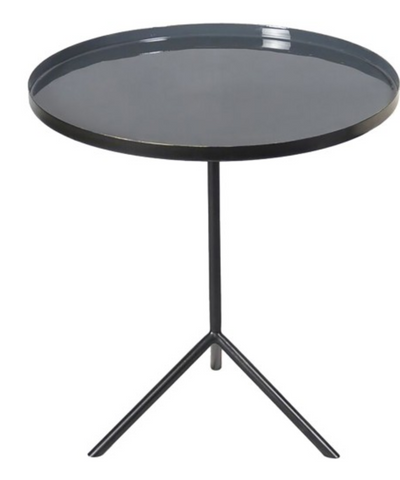 Enamel Accent Table in Black