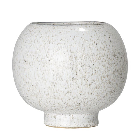 Round Stoneware Flower Pot