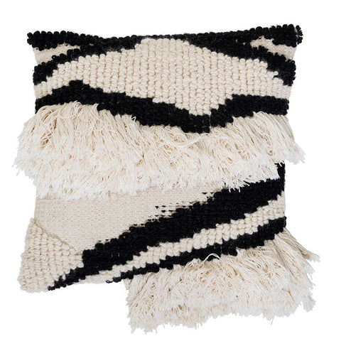 Wool Blend Pillow, Black + White