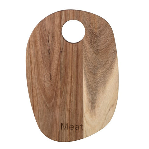 "Acacia Wood ""Meat"" Cutting Board"