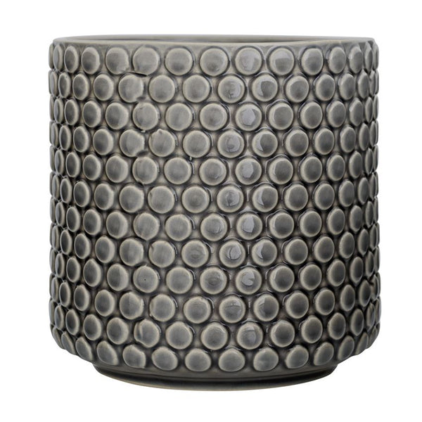 Stoneware Flower Pot in Grey