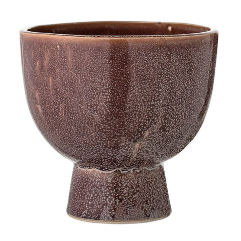 Stoneware Flower Pot, Brown