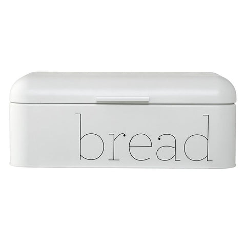 Metal Bread Bin in White