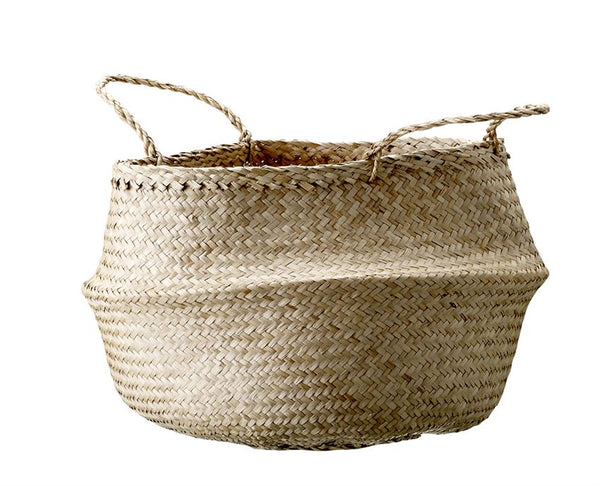 Seagrass Basket w/ Handles in Natural