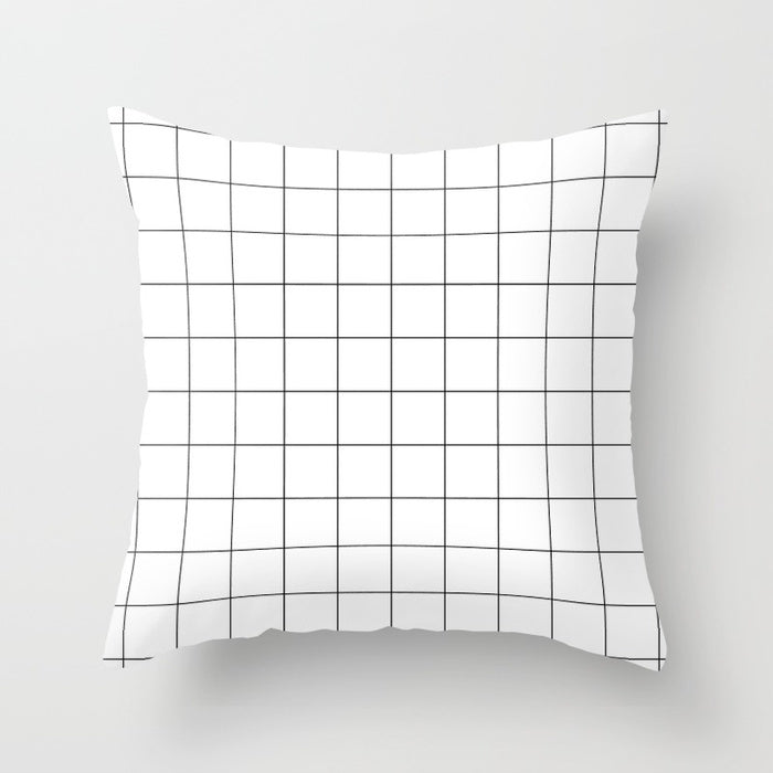 White Grid Pillow (with insert)