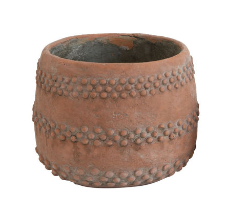 Terra Cotta Cement Pot
