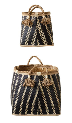 Wicker Basket with Rope Handles
