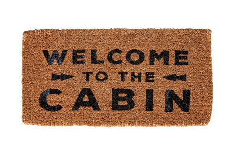 Welcome to The Cabin Welcome Mat