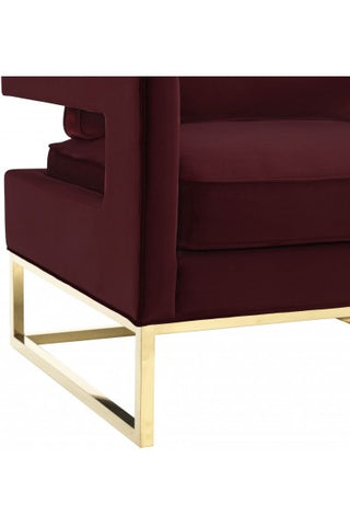 Maroon Velvet Chair