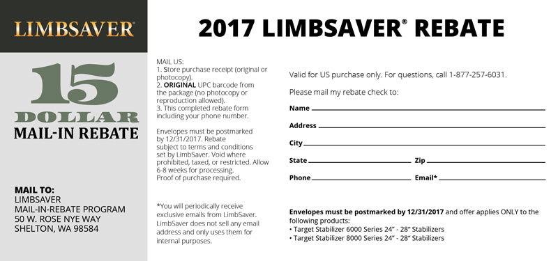 photograph about Printable Rebate identified as Client Rebates LimbSaver On line Retail outlet