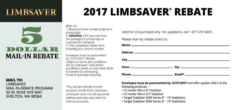 photo about Printable Rebate titled Purchaser Rebates LimbSaver On line Keep