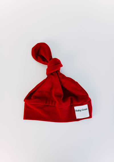 Red Top Knot(ch) Hat