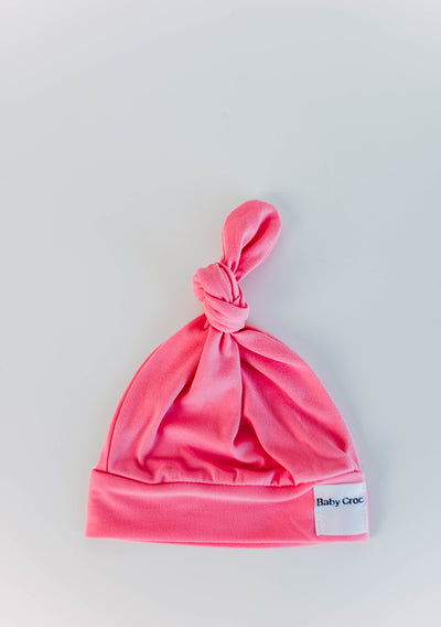 Bright Pink Top Knot(ch) Hat