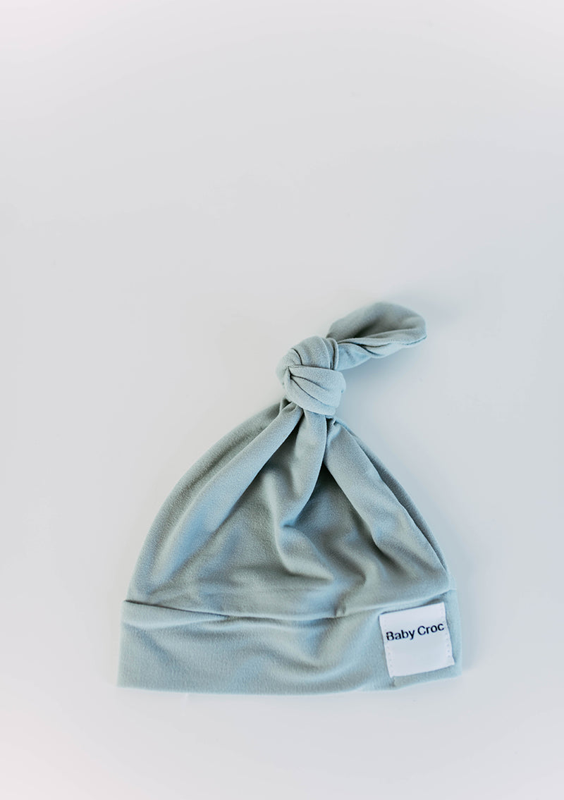 Grey Top Knot(ch) Hat