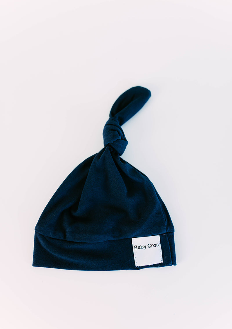 Navy Top Knot(ch) Hat