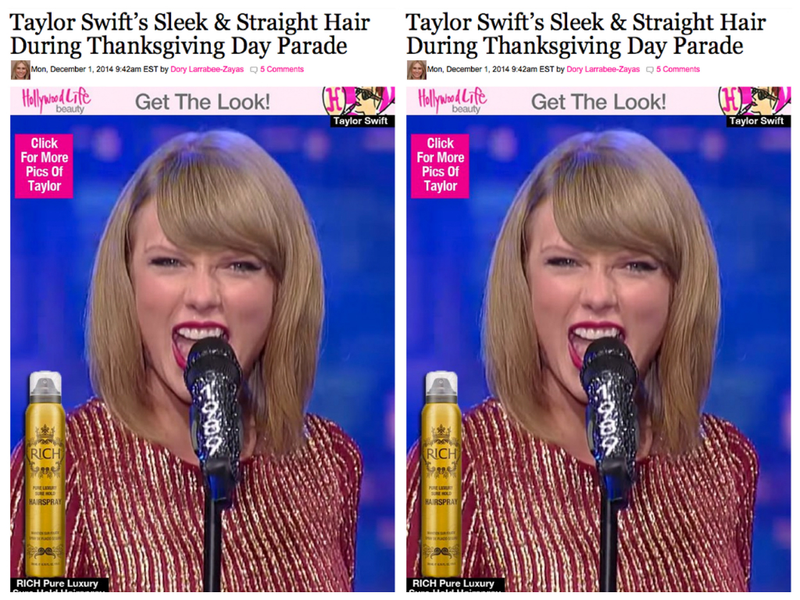 HOW TO GET TAYLOR SWIFT´S SLEEK HAIR? USE RICH´S HAIRSPRAY!