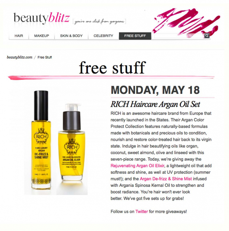 BEAUTY BLITZ'S GIVEAWAY OF RICH