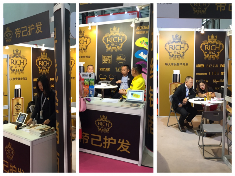 RICH AT CHINA BEAUTY EXPO
